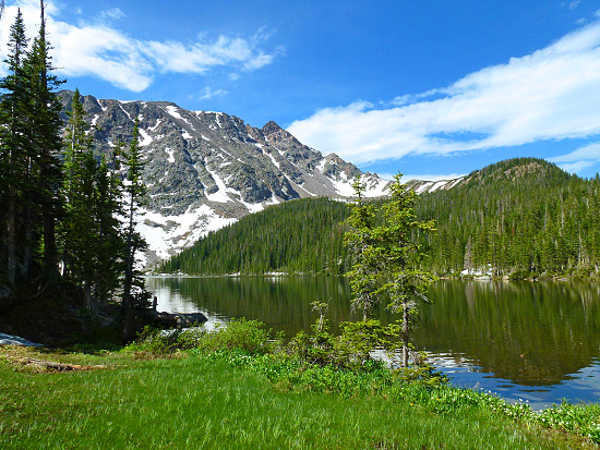 Upper Cataract Lake (10,744') in the Eagles Nest Wilderness