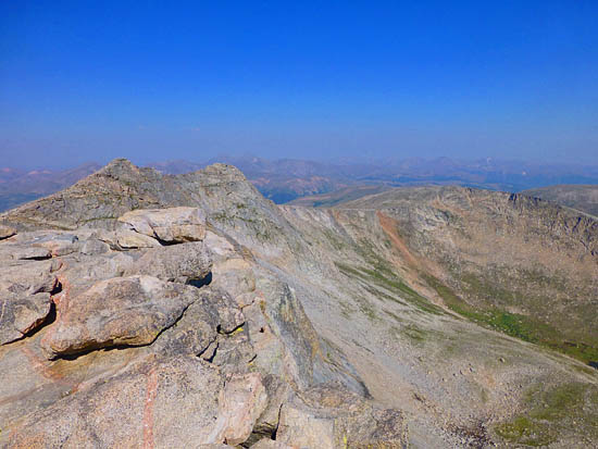 Looking north from Mt Evans (14,264')